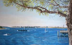 Artist Christopher Reid Wins 2nd Best In Show At Southport Plein Air Paint-Out