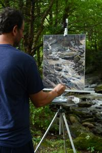Artist Christopher Reid Wins Award In Boone Plein Air Paint Out